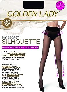 GOLDEN LADY My Secret Silhouette 30 3P Collant, 30 DEN, Nero (Nero 099A), X-Large (Taglia produttore:5 – XL) (Pacco da 3) ...