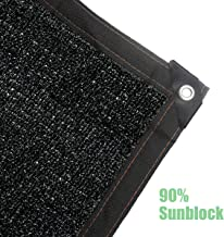 Milky House Shade Cloth, Black Sun Mesh 6.5ft x 6.5ft Taped Edge with Grommets UV Resistant Shade Sunblock Net for Greenhouse Flowers Plants Patio Lawn Mesh