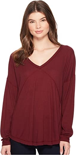 Three Dots - Thermal Mixed Rib Top