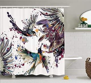 Xderlin Shower Curtain Waterproof, 72X72in Polyester Fabric Waterproof Shower Curtain for Bathroom (Purple)