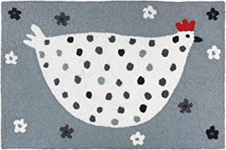 "Jellybean Cool Grey Chick Kitchen Décor Indoor/Outdoor Washable 21"" x 33"" Accent Rug"