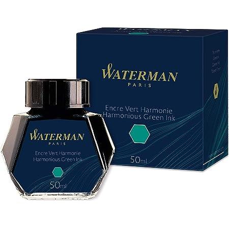 Waterman Fountain Pen Ink, Harmonious Green, 50ml Bottle