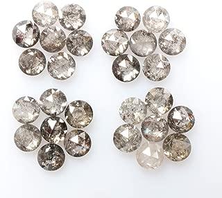 0.97 ct 2.0 mm Natural Loose Diamond Salt and Pepper Black Color 25pcs Beautiful Round Rose Cut Diamond R4016