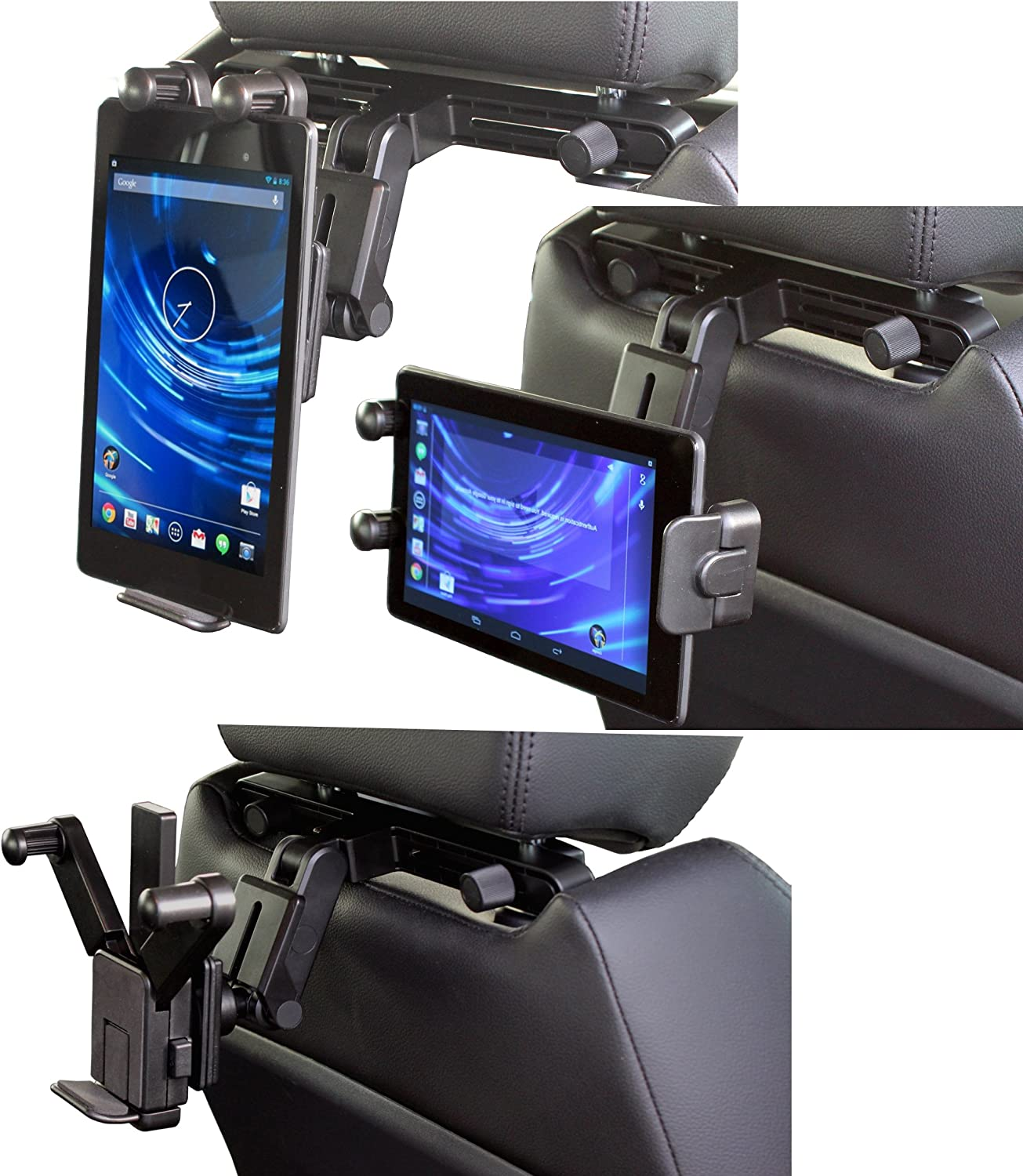 Navitech In Car Back Seat Headrest Mount Compatible With The Acer Iconia Tab A510 / Acer Iconia Tab A700 / Acer Iconia Tab A200 / A210 / A211 / Acer Iconia W500 /w510 / Acer Iconia W510 / W511 / Acer Iconia A3
