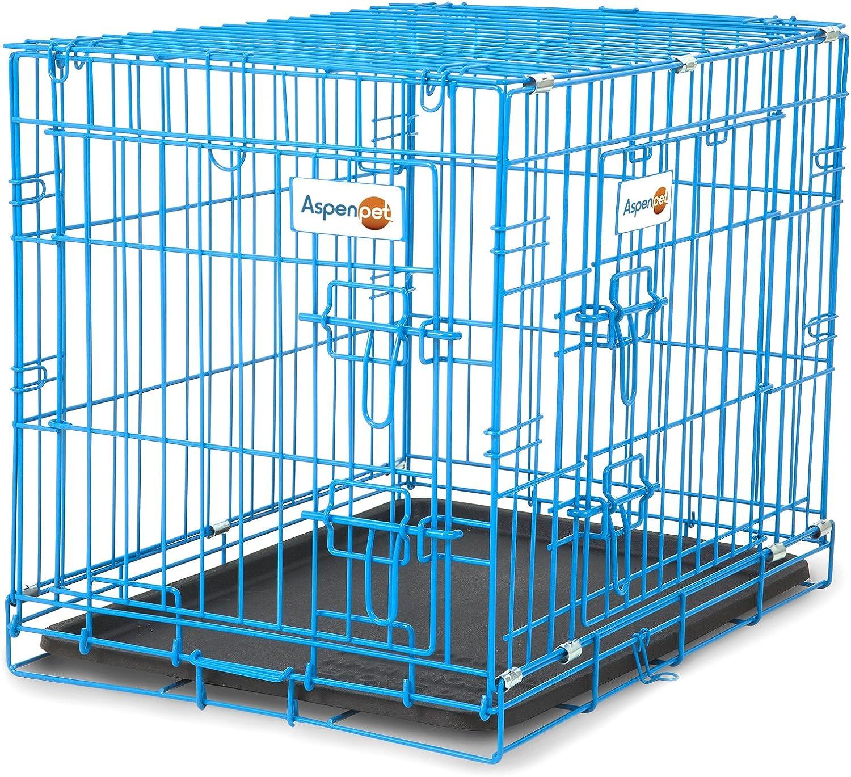 Aspen Pet Puppy 2 Door Training Retreat 24Inch bluee