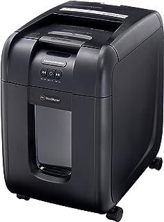 GBC シュレッダー 静音 オフィス用 業務用 自動細断A4コピー用紙200枚 連続使用約14分 CD/DVD/プラスチックカードも細断可能 ダストボックス大容量32L オートフィード時約350枚収容 マイクロクロスカット オートフィードシュレ...