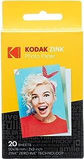 Kodak 2ʺx3ʺ Premium Zink Photo Paper (20 Sheets) Compatible with KODAK Smile and PRINTOMATIC (NOT with Kodak Mini Shot, Mini2)