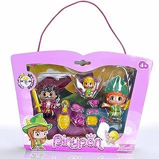 Pinypon Set con Figuras de Peter Pan, Garfio y Campanilla (