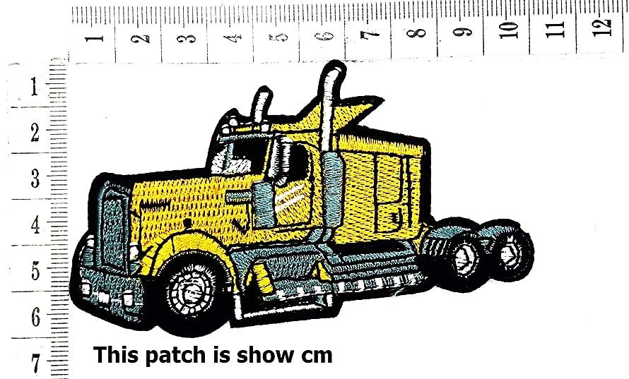 Track Tractor Heavy Trucks 18-Wheel Trucks Trailers Cartoon Chidren Kids Embroidren Iron Patch/Logo Sew On Patch Clothes Bag T-Shirt Jeans Biker Badge Applique