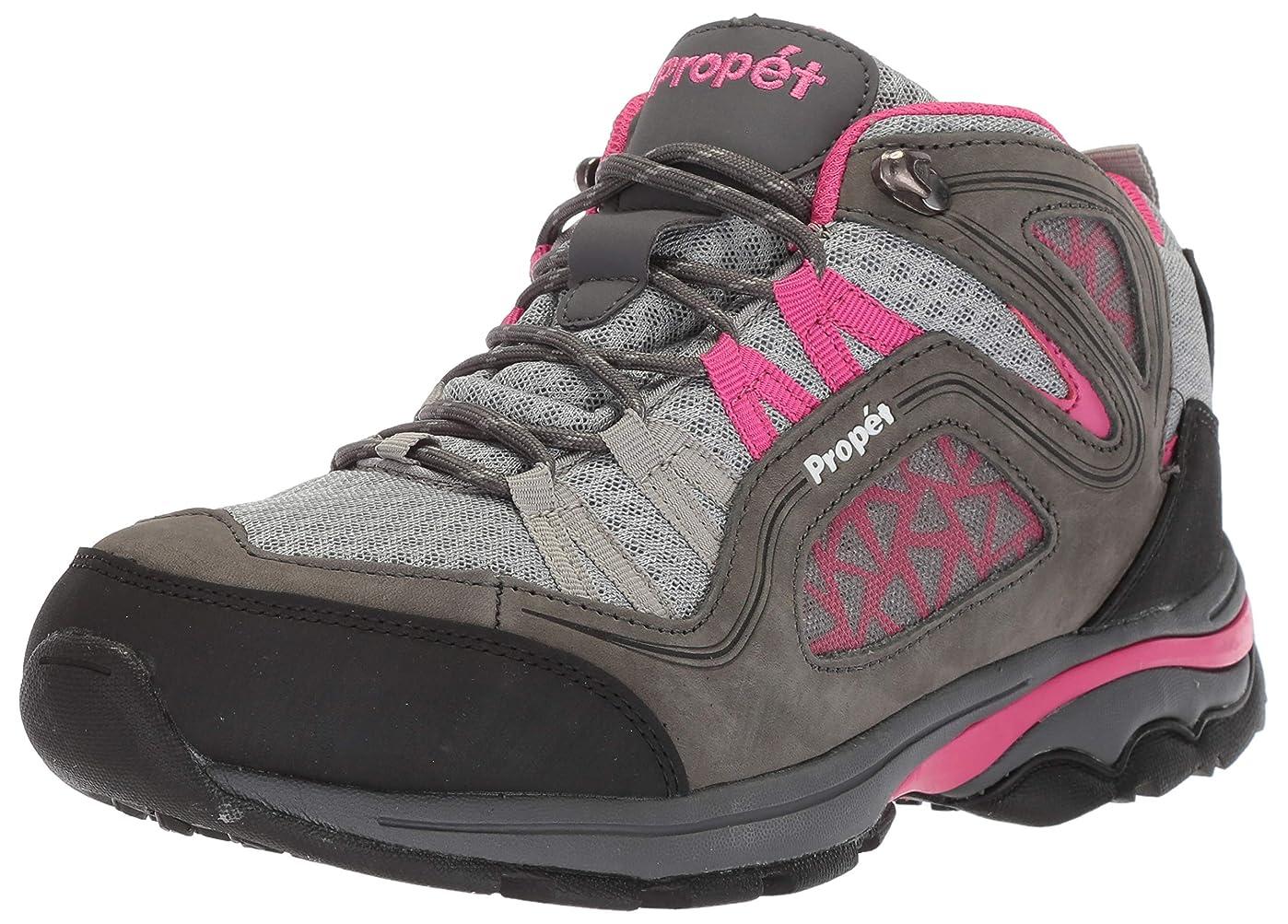 熟練した幸運ヘリコプター[Propet] Women's Peak Grey/Berry Mid-Top Hiking Shoe - 8.5WW