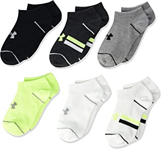 Under Armour Youth Essential Lite No Show Socks, 6-pair