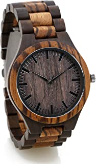 Personalized Engraved Wooden Watch Custom Wood Watch Fathers Day Gift Groomsman Gift Anniversary Wedding Gift Engraved All Natural Wood- Gift Box Included