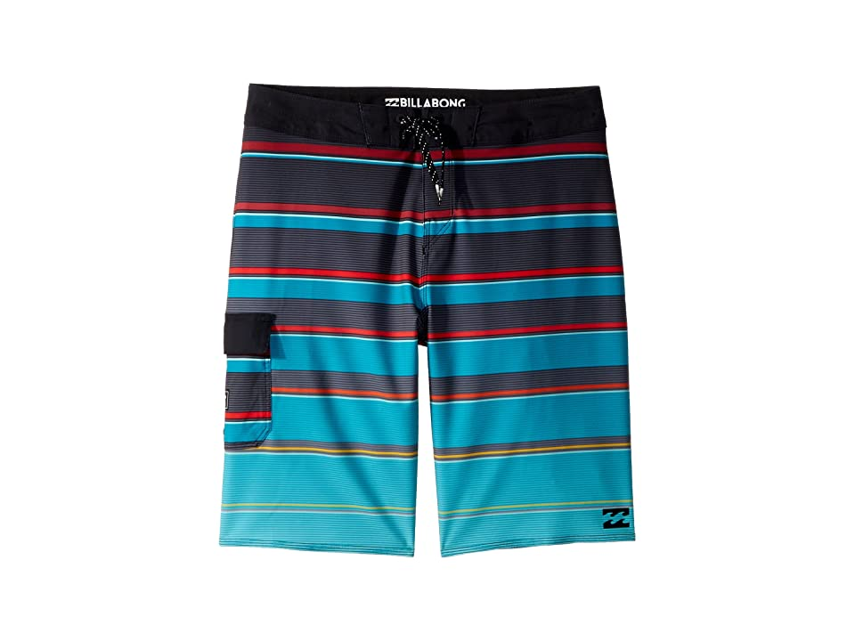 Billabong Kids All Day X Stripe Boardshorts (Big Kids) (Aqua) Boy