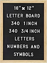 Felt Letter Board with 680 Letters, Numbers & Symbols 16 x 12 inch :: Changeable Letter Board for Quotes, Messages, Displa...