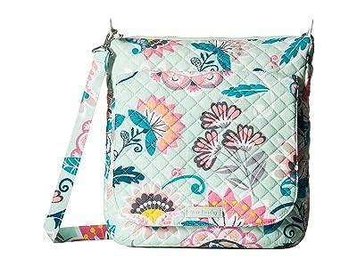 Vera Bradley Carson Mailbag (Mint Flowers) Bags