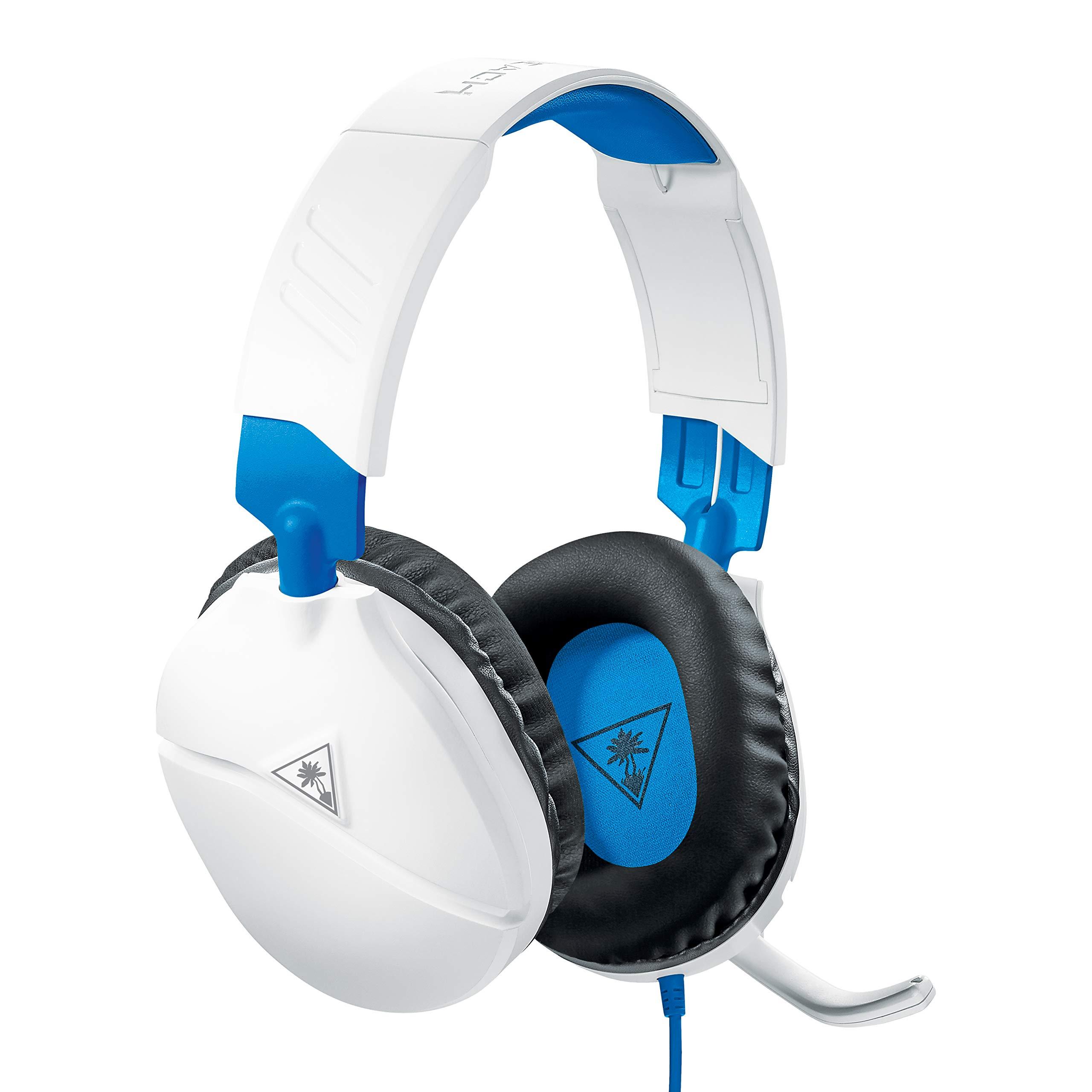 PlayStation 4 Pro、PlayStation 4、Xbox One、ニンテンドースイッチ、PC、および電話用のTurtle Beach Recon 70ゲーミングヘッドセット -  PlayStation 4ホワイト/ブルー