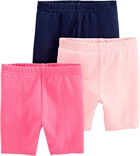 Baby and Toddler Girls' 3-Pack Bike Shorts