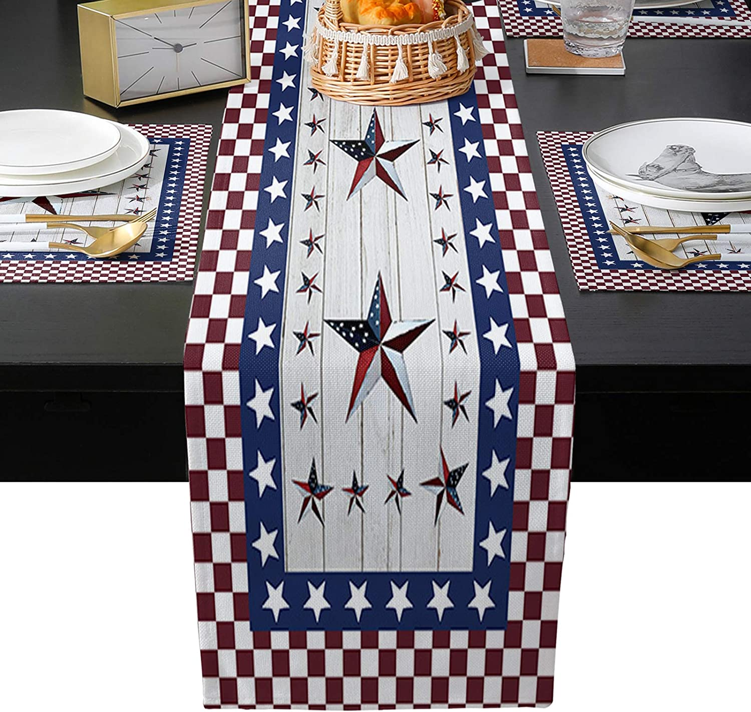 Placemats Set Mesa Mall of 4 with Table Outdoor High quality Indoor for Runners Events