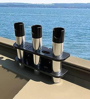 Brocraft Rod Holder for Tracker Boat - Versatrack System -3 Rods Storage -Black
