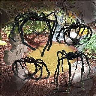 Halloween Realistic Hairy Spiders Set (3 Pack), Halloween...