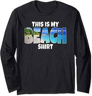Beach Ocean Vacation Souvenir Keepsake Gift Sand Water Sea Long Sleeve T-Shirt
