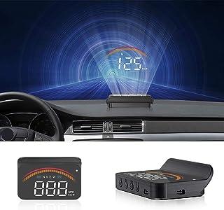 Car HUD Display, iKiKin HUD Head Up Display GPS OBD Dual USB Interface with Alarm Systems & Security Digital Windshield Pr...