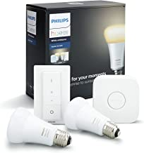 Philips Hue White Ambiance Smart Bulb Starter Kit - Edison Screw E27 (Compatible with Amazon Alexa, Apple HomeKit, and Goo...