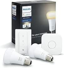 Philips Hue White Ambiance Smart Bulb Starter Kit - Edison Screw E27 (Compatible with Amazon Alexa, Apple HomeKit, and Google Assistant)