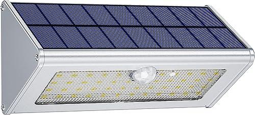 Licwshi éclairage mural extérieur de sécurité, automatique, rechargeable, imperméable et puissant 46 LED (4500mAh Lum...