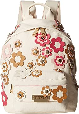 Eartha Small Backpack - Hex Floral Applique