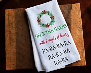 Funny Kitchen Towel Christmas Story Deck the Halls
