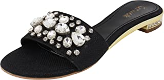 Catwalk Black Slip-on Sandals