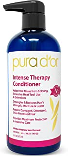 PURA D'OR Intense Therapy Conditioner Repairs Damaged, Distressed, Over-Processed Hair, Infused with Natural Ingredients, ...