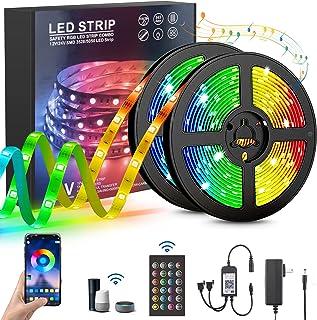 Tira LED, MTQ Luces de Tira LED WiFi, 10M Tiras LED 40W , Tira de luz controlada por teléfono Inteligente, Impermeable IP6...