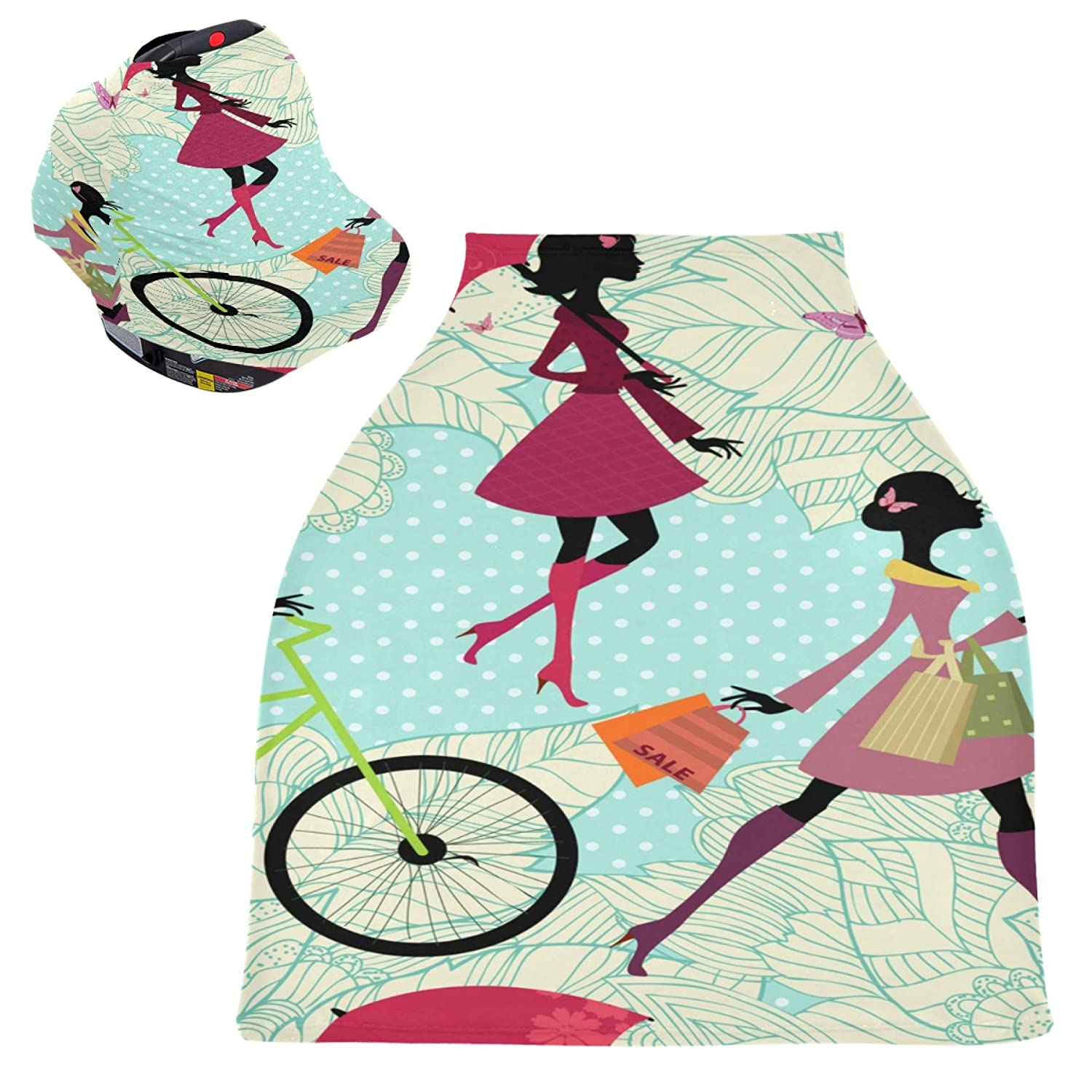Baby Car Seat Cover Choice for Travel New product Bicycle Romantic Girl Shopping On