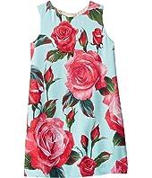 Dolce & Gabbana Kids - Rose Print Dress (Little Kids)