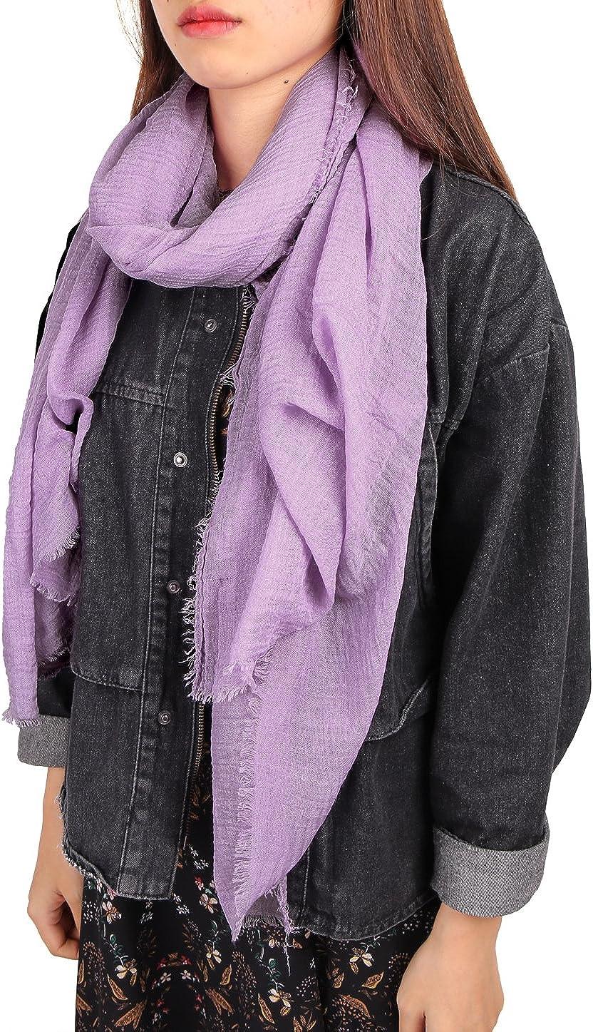 uxcell Unisex Cotton Linen Soft Fashion Long Scarf Hijab Wrap Shawl Headwear Scarves 2