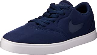 Nike Australia SB Check CNVS ESS+ (GS) Skateboarding Shoes, Midnight Navy/Midnight Navy-White