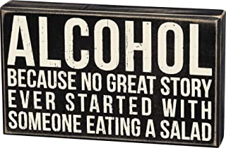 Primitives by Kathy 19416 Classic Box Sign, 10 x 6-Inches, Alcohol
