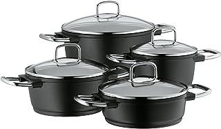 WMF Bueno Induction Batería de Cocina, Aluminio, Negro, 4 Piezas