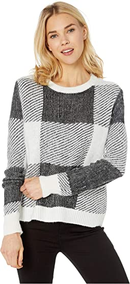 Long Sleeve Patchwork Sweater