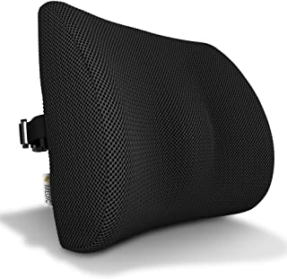 Medipaq - '3D' Mesh Orthopaedic Memory Foam Lumbar Support Cushion - with Air Circulation - Reduce Back Ache, Improve Post...