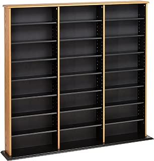 Prepac Triple Width Wall Storage Cabinet, Oak and Black