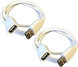 USB 2.0 Male to Female 3 Foot Extension Cable   White 36