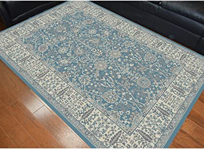 Mayberry Rug Machine-made Garden Blue Polypropylene Area Rug (53 x7
