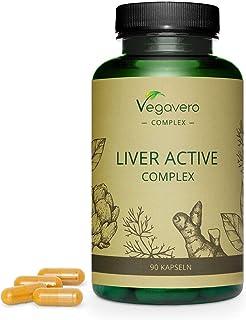 Suplemento para Hígado Vegavero® | Ingredientes 100% Vegetales | Sin Aditivos | Cúrcuma + Alcachofa + Diente de León + Achicoria + Colina | 90 Cápsulas | Desintoxicar Hígado y Vesícula Biliar
