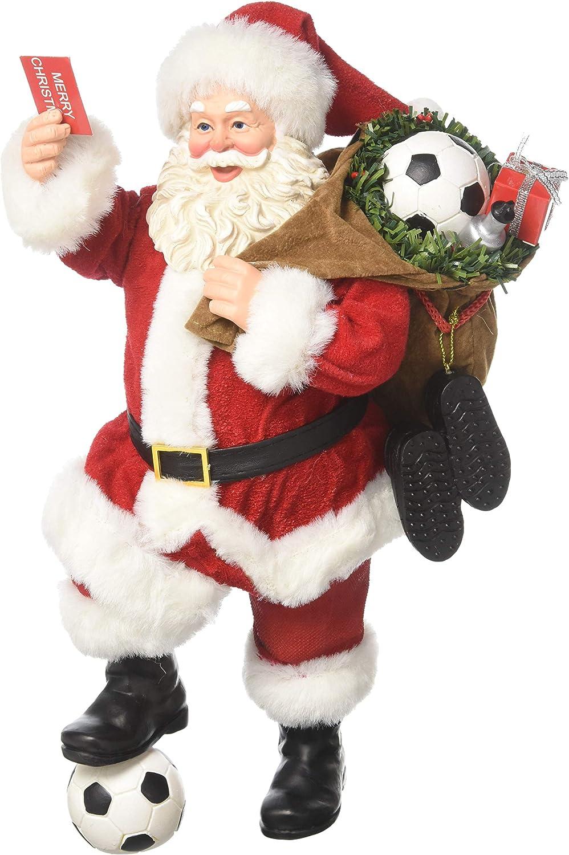 Department 56 Possible Dreams Santa 6001652 Red Card Advantage Figurine, Multicolor