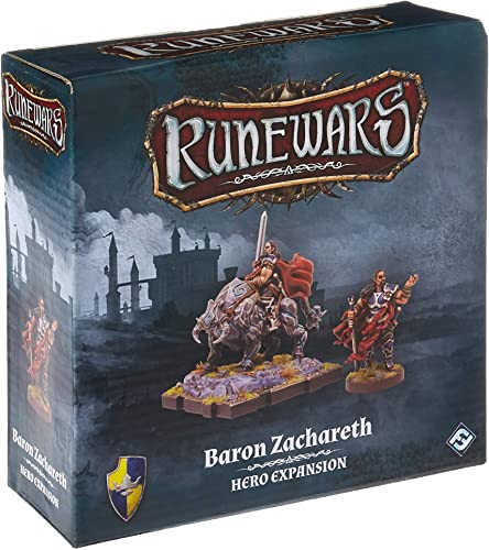 marca Fantasy Flight Games RuneWars RuneWars RuneWars  The Miniatures Game - Baron Zachareth Hero Expansion - English  te hará satisfecho