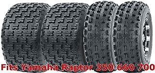 Full Set WANDA Sport ATV Tires 21x7-10 & 20x10-9 Yamaha Raptor 350 660 700