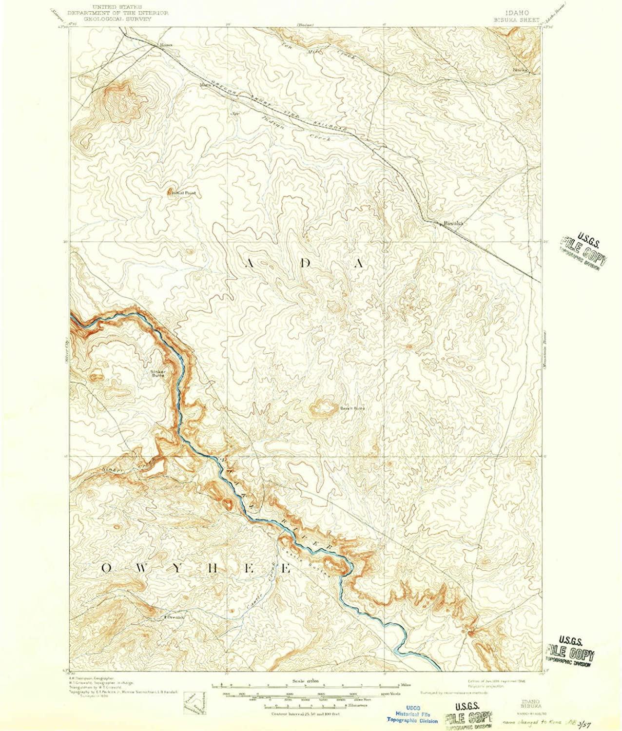 Bisuka ID topo map, 1 125000 Scale, 30 X 30 Minute, Historical, 1894, Updated 1946, 20.7 x 17 in